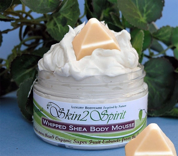 WHITE CHOCOLATE Shea Body Mousse -Whipped - Truly All Natural - Real Chocolate - No Synthetic Fragrance 4 oz