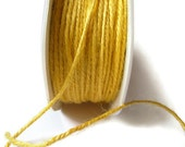 50 Yards Sunshine Yellow Jute Twine - 2mm 2-ply Twine - Twisted Burlap - Full Spool / Roll