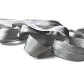 "Leadville Gray Seam Binding Ribbon - Vintage Original Hug Snug - 3 / 6 / 12 Yards - Grey - Packaging - Gift Wrap - 1/2"" Trim - Craft Supply"