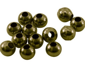 Vintage Style smooth round Antique Brass Beads 3mm 100 pcs