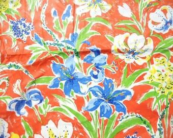 Blue Lilies Fabric