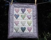Purple Heart - mini doll quilt