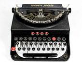 Remington Monarch Pioneer Manual Typewriter Red and Black Keys