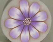 Polymer Clay light violet wild flower cane