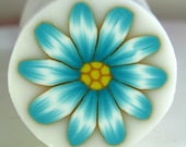 Polymer clay cane Light blue flower