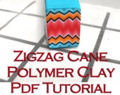 Polymer Clay pdf tutorial - The Zigzag Cane Technique