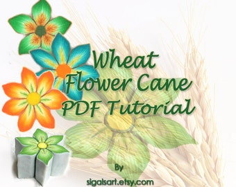 Polymer Clay  tutorial - The Wheat Flower Cane