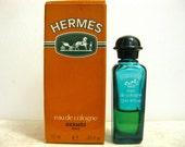 Mini Bottle Cologne Hermes Eau de Cologne Paris Vintage