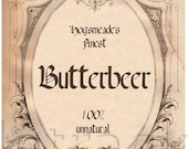 INSTANT DOWNLOAD / Butterbeer Label Hang Tags DIGITAL Images / Sidetracked Artist No.173