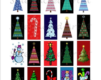 INSTANT Download Christmas Images 1 x 2 inch Domino DIGITAL IMAGES / Sidetracked Artist Collage No.162
