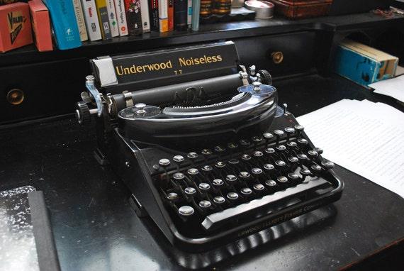 SALE - Beautiful Underwood Noiseless Typewriter