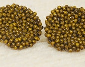 Picasso Mustard Beaded Buttons