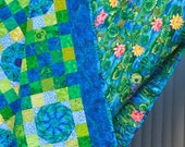 Blues and Greens Patchwork Quilt