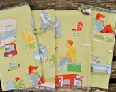 Retro Life Cotton Dinner Napkins