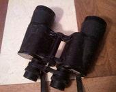 Vintage Tecnar Binoculars Black Hard Coated Optics Light Weight Bird Watching 1980s