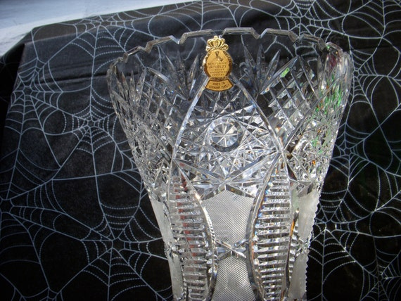 Items Similar To Vintage Hand Cut Lead Crystal Vase