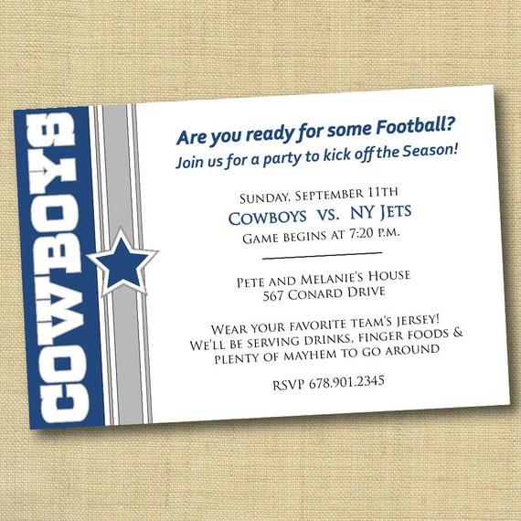 Items Similar To Dallas Cowboys Football Party Invitation