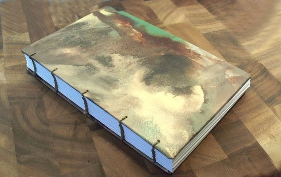Original rorschach painting covered blank journal or sketch book. 9 x 6 inch. Over 150 pages.