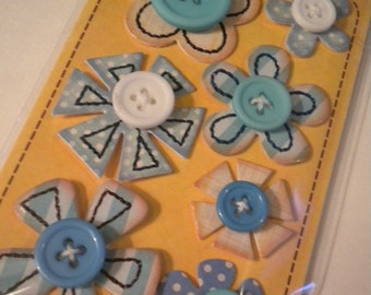 Blue In a Stitch Blossoms by Sassafras Lass