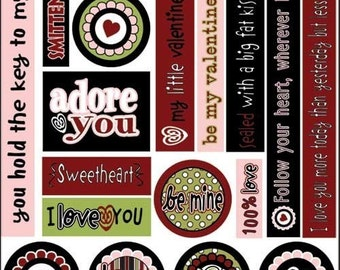 Love Smitten Cardstock stickers 6.5X12 by 3 bugs in a rug