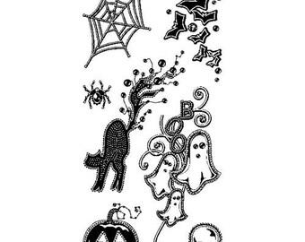 Gem Stone Halloween Clear Stamp Set by Inkadinkado
