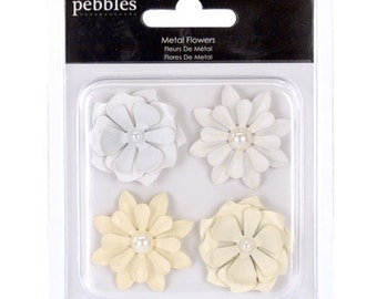 Mr & Mrs Metal Flowers by Pebbles and American Crafts