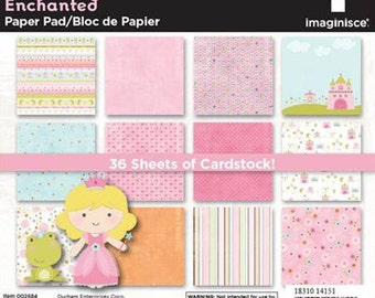 6x6 paper pad Enchanted Princess by Imaginisce 36 sheets