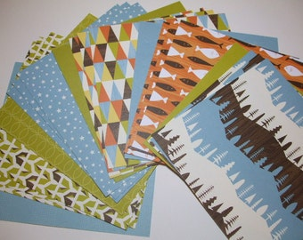 6x6 paper pack CAMPY Trails Collection by American Crafts 20 Sheets