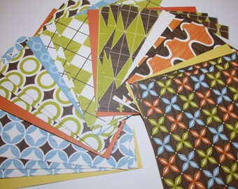 6x6 paper pack CAMPY Trails Shapes Collection by American Crafts 20 Sheets