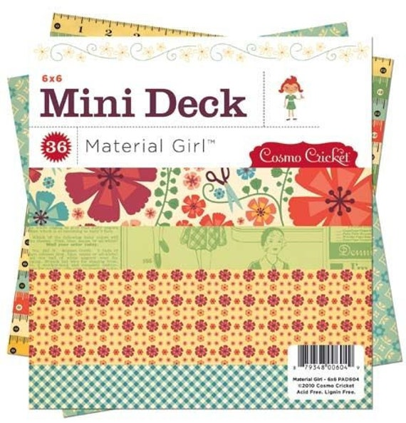 Material Girl 6x6 Paper Pad by Cosmo Cricket 36 sheets