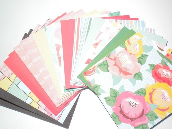 Dear Lizzy Collection 6x6 paper pack by American Crafts 24 Sheets