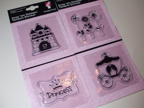 Princess Stamp Set by Imaginisce Enchanted Collection (4 stamps)