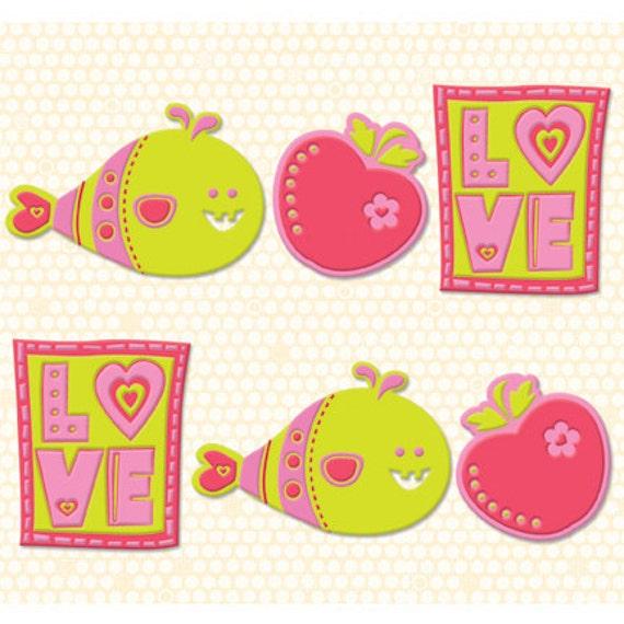 Berry Sweet Flexible Charmers by K&Company (HUGE SAVINGS)