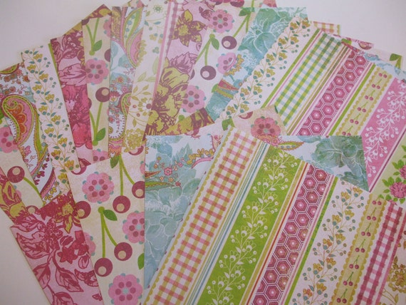 Paper Pack 6x6 LEMONADE by Basic Grey 16 Sheets