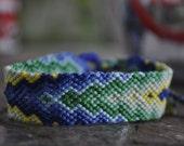 blue and green tones friendship bracelet