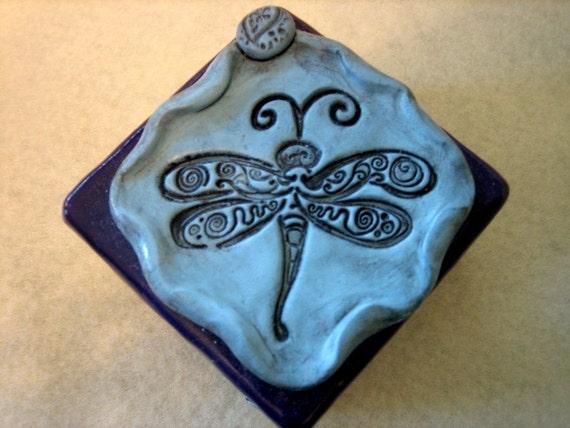 Polymer Clay Dragonfly Trinket Box