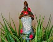 english garden gnome handmade from polymer clay plant friend