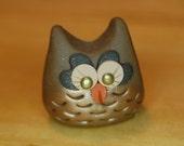 polymer clay owl- Roxy the brown owl