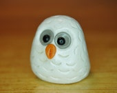 polymer clay owl- Bianca the snowy owl