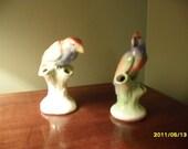 Set of Bird Frog Vases