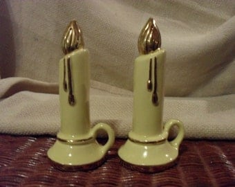 Vintage Ceramic Candle Salt and Pepper Shakers