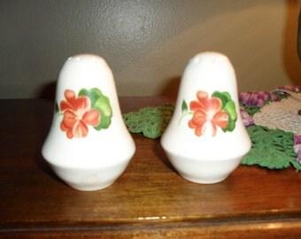 Vintage Orange Flower Salt and Pepper Shakers REDUCED