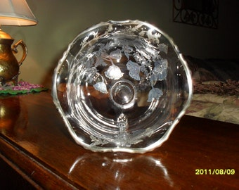 Sterling Flowered Dish