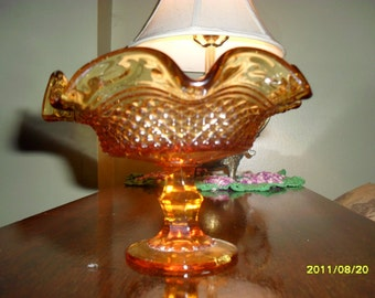 Amber Glass Candy Dish from Italy