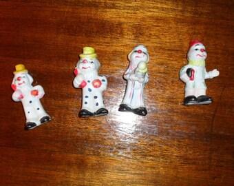 Lot of 4 Miniature Clowns