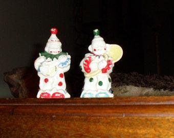 Two Miniature Clown Figurines