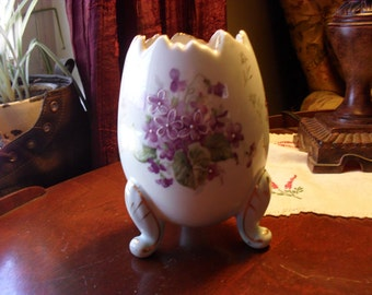 Lefton Violet Egg Vase