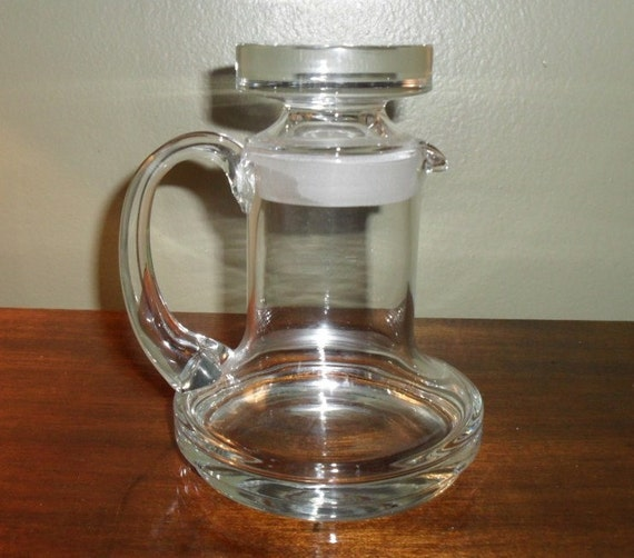 Glass Pitcher with Stopper