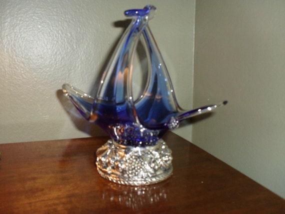 Unique Art Glass Basket