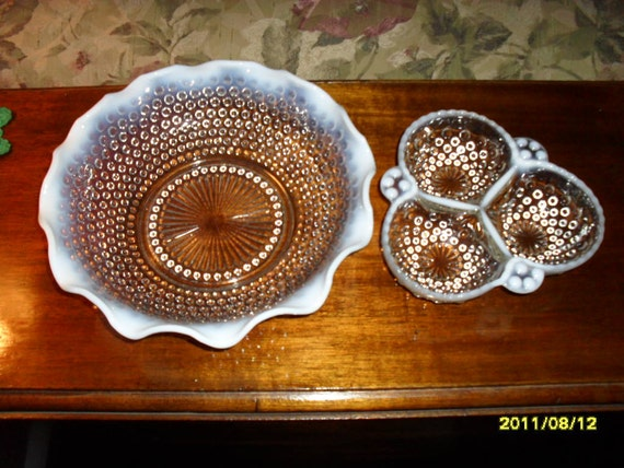 French Opalescent Fenton Glass Party Set